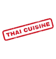 Thai Cuisine Rubber Stamp vector image