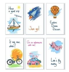 Travel Card Set vector image