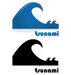 Tsunami vector image