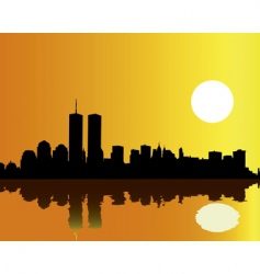 Twin Towers vector image