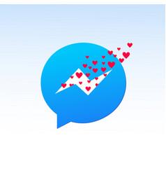 valentine day messenger vector image
