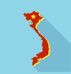 vietnam teritory map icon flat style vector image