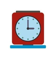 Vintage alarm clock flat icon vector