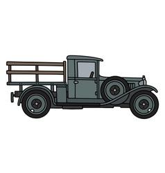 Vintage flat truck vector