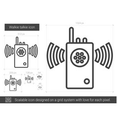 Walkie talkie line icon vector