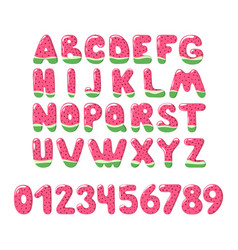 watermelon font on white background - signs vector image