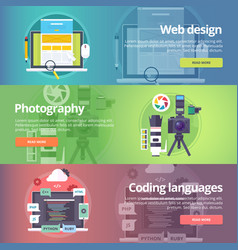 Web design art of digital photography coding vector