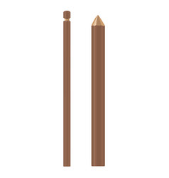 wooden stick brown color vector image