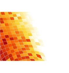 Abstract tile background - cells in 3d vector image vector image