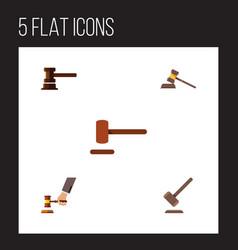 flat icon lawyer set of tribunal defense vector image vector image
