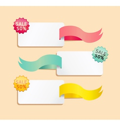 ribbon soft color sale tag vector image vector image