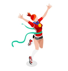 Running Winning Woman 2016 Sports 3D vector image vector image