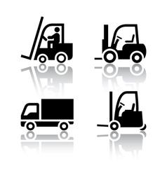 Set of transport icons - loader vector