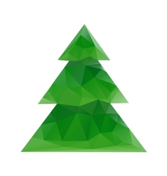 Abstract geometrical Christmas background vector image