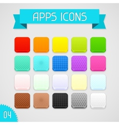 Collection of color apps icons Set 4 vector image vector image