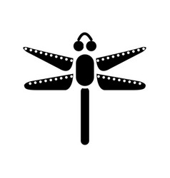 dragonfly icon black sign on vector image