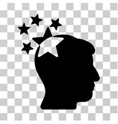stars hit head icon vector image vector image