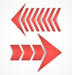 Two red arrows concept designs vector image vector image