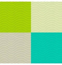 Wavy seamless patterns set vector image vector image