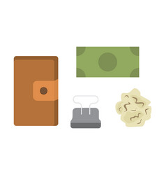 workplace with documents office personal and vector image