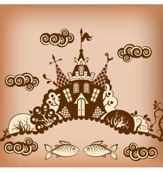 castle brown vector image