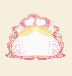 golden wedding rings - Invitation card vector image vector image