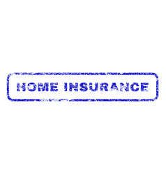 home insurance rubber stamp vector image vector image