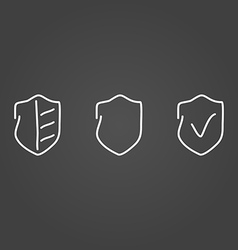 Security set icons draw effect vector image