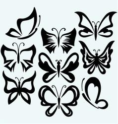 Set symbol butterflies vector image vector image