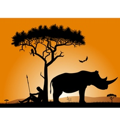 dawn in africa vector image vector image