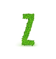 Green Leaves font Z vector image