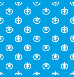half of tomato pattern seamless blue vector image vector image