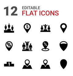 12 position icons vector image
