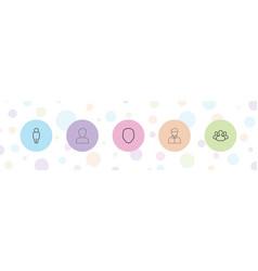 5 avatar icons vector