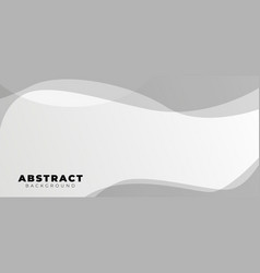 aesthetic abstract background with wave grey vector image
