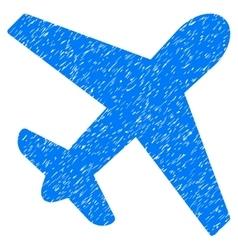 Airplane Grainy Texture Icon vector