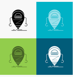 android beta droid robot technology icon over vector image