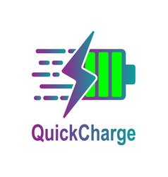 Battery charging icon quick and fast vector