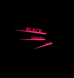 black friday speed icon on the black background vector image