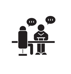 business conversation black concept icon vector image