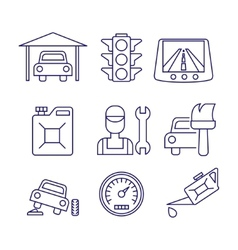 Car service maintenance icon Auto repair vector image