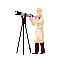 cartoon man astronomy scientist vector image