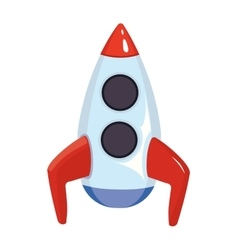 cartoon of space rocket ship vector image
