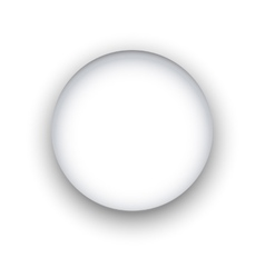 Circle with shadow vector