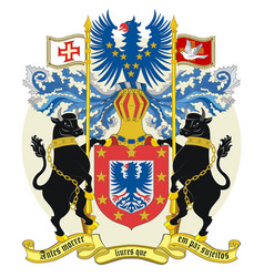Coat arms azores in portugal vector