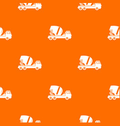 concrete mixer truck pattern seamless vector image