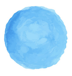 delicate blue watercolor painted stain vector image