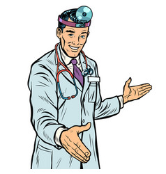 doctor therapist surgeon handshake vector image