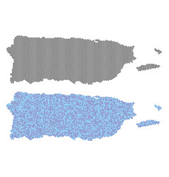 Dotted puerto rico map abstractions vector