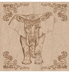 Elephant brown vector